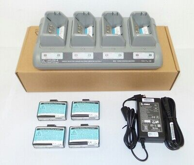 $ CDN331.20 • Buy Zebra ZQ520 4 Slot Battery Charger With 4 Batteries UCLI72-4