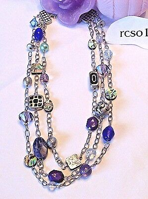 $ CDN20.35 • Buy Beautiful Lia Sophia  CARNIVALE  Necklace, 17-20  Long, NWOT