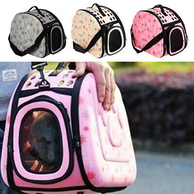 Pet Dog Cat Puppy Portable Travel Carry Carrier Tote Cage Bag Crates Kennel • 9.99£