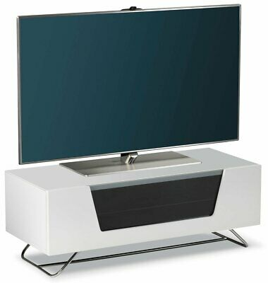 White Gloss TV Stand Cabinet Unit JVC Logik 32 37 40 43 49 50 TVS • 179.99£