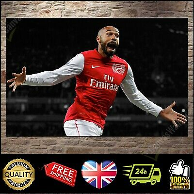 £23.97 • Buy Thierry Henry Arsenal Box Canvas Print Wall Art Poster Picture Photo: 3 Sizes