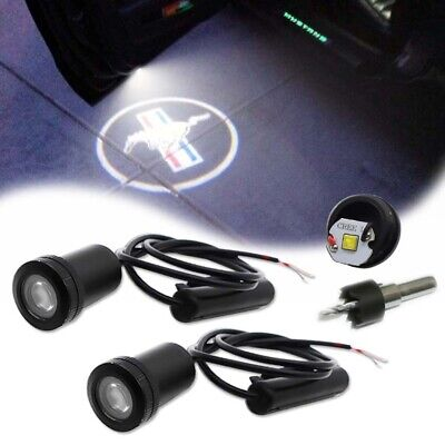 $14.99 • Buy For Ford Mustang Side Door Welcome Logo Ghost Shadow Projector Laser LED Lights