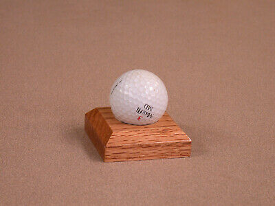 Golfball Golf Ball Display Stand Solid Oak Made In Oklahoma USA • 9.31£