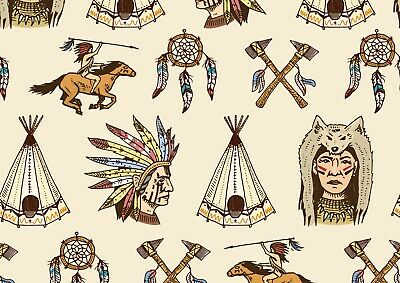 A4| Native American Tribe Poster Size A4 Indians Tent Travel Poster Gift #15914 • 3.99£