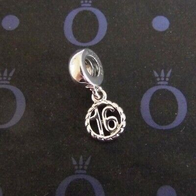 £16.99 • Buy New Sixteen Pandora Happy 16th Birthday Charm With Free Pouch 790494 Sweet 16