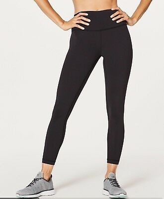 "875c6a2495e458 NWT Lululemon Wunder Under High Rise Tight 25"" Black Sz 4 Full On Luon •"