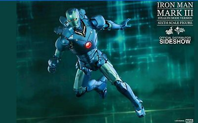 AU499 • Buy 1/6 Hot Toys MMS314 D12 Iron Man Mark 3 Ⅲ Stealth Mode Version Exclusive