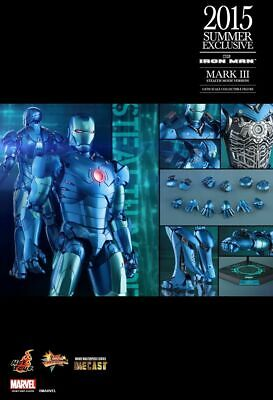AU499 • Buy 1/6 Hot Toys Iron Man MMS314-D12 Diecast Stealth Mode Exclusive