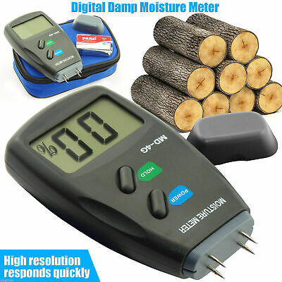 4-Pin Digital Moisture Meter PRO Damp Detector Timber Wood Tester Plaster Sensor • 11.89£