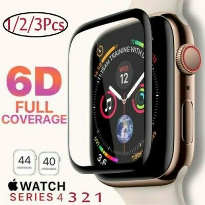 $ CDN2.86 • Buy 6D For Apple Watch Series 4/3/2 1 Full Screen Protector Tempered Glass 38-44MM