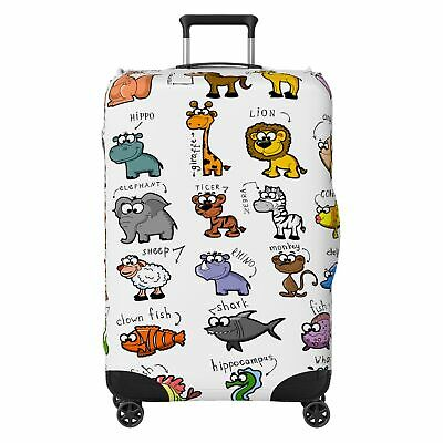 Animals Kids SUITCASE COVER Skin Protector White • 20.99£
