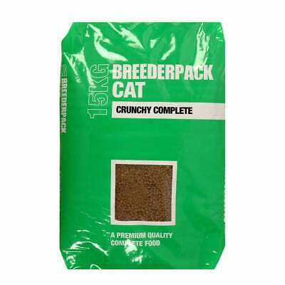 £22.99 • Buy BREEDERPACK CAT CRUNCHY COMPLETE DRY FOOD 15kg Bag With FREE NEXT DAY DELIVERY