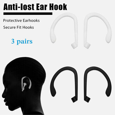 AU5.49 • Buy 3Pairs Anti-lost Ear Hooks Silicone Gel Covers For Airpods Earpods Accessories