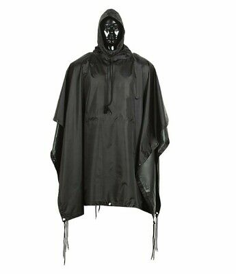 $29.50 • Buy Poncho Outwear Military USMC Style Rain Coat Water Resistant BLACK COLOR