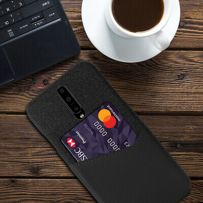 AU9.40 • Buy Case For OnePlus 7 Pro 5T 6T PU Leather+Cloth Grain Wallet Card Slot Back Cover