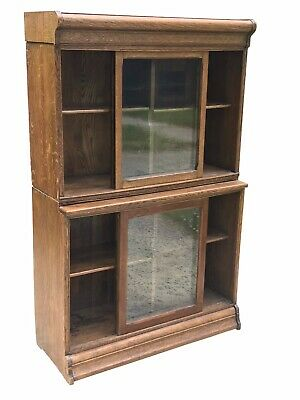 $1875 • Buy 20th C Arts & Crafts / Mission Oak Danner Stacking Oak Barrister Bookcase