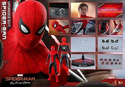 $ CDN358.10 • Buy Hot Toys MMS542 1/6  Spider-Man: Far From Home  Spiderman Upgrade Battlesuit Toy