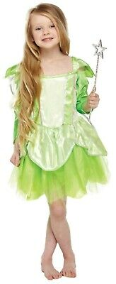 £11.25 • Buy Girls Tinkerbell Green Fairy Fancy Dress Up Costume Outfit Ages 4-9 Yrs NEW