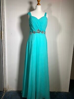 Grace Karin Evening Gown Long Dress Size 12 With Rhinestones • 22.99£