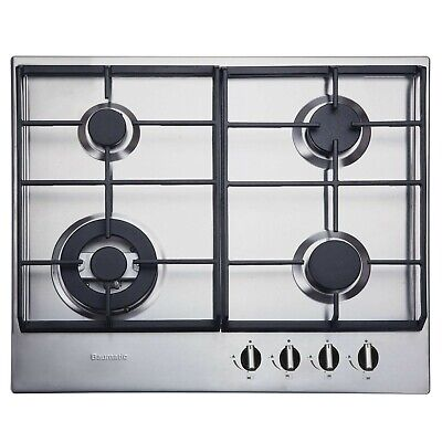Baumatic BHG625SS Built In 60cm Four Burner FFD Gas Hob In Stainless Steel • 89.99£