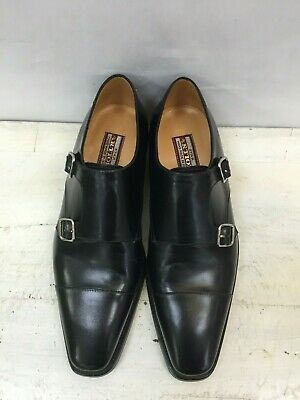 $ CDN395.85 • Buy Nib Artioli Double Monk Black Leather Loafers Shoes