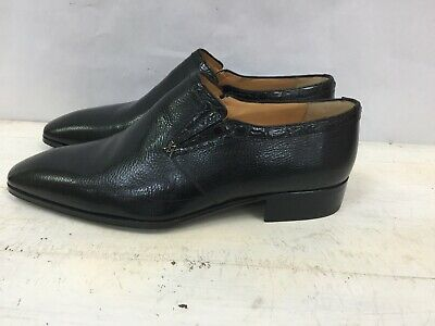$ CDN395.85 • Buy 1680€ Nwb Artioli Black Man Shoes Slip On Dress Shoes Sz 7 1/2