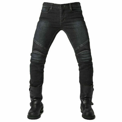 Hot Cool Men Fitted Motorcycle Jeans Motorbike Pants Denim Trousers Off Road Pad • 39.99£