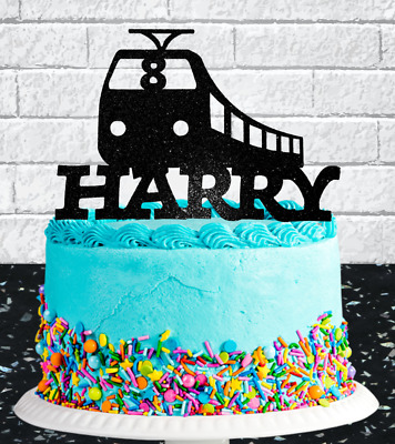 Personalised Train Any Name/age Birthday Cake Topper • 5.99£