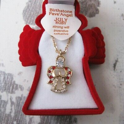 Angel July Birthstone Necklace With Angel Jewellery Box • 10.94£