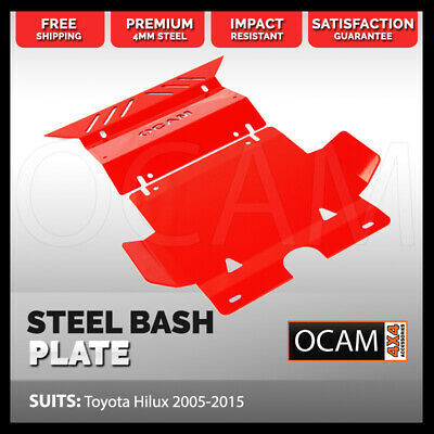 AU169 • Buy OCAM Steel Bash Plates For Toyota Hilux N70 SR SR5 2005-15 4mm, Red