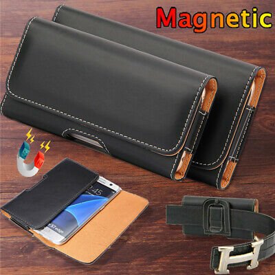 $ CDN7.13 • Buy For Samsung Galaxy S20 FE S21 S10 S9 S8 Universal Leather Belt Clip Holster Case