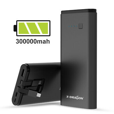 View Details 300000mAh Power Bank Portable External Pack USB Type-C Battery Charger For Phone • 19.99£
