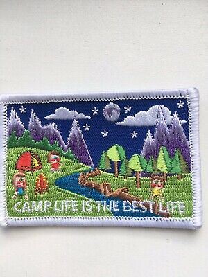 Girlguiding Camp Blanket Badge - Camp Life Is The Best Life • 1£
