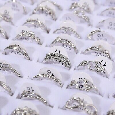 AU1 • Buy Fashion Mix Alloy Silver Stainless Steel Rings Wholesale Bulk Rings Jewelry Hot