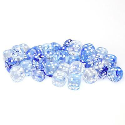 AU29.97 • Buy 36D6 Nebula D6 Dark Blue/White Dot Dice - Chessex Free Shipping!