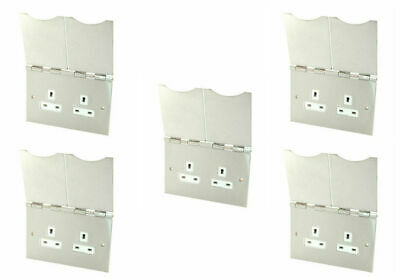 £101.40 • Buy 5 X Selectric LG9142SNAP-FSCW Floor Mtd Unswitched Socket 13A 2Gang Satin Chrome