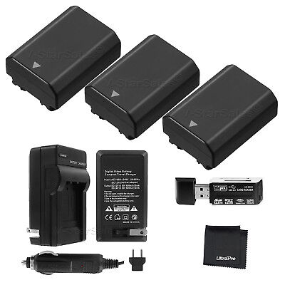$ CDN113.88 • Buy 3x NP-FZ100 Battery + Charger + Card Reader For Sony Alpha A9 A7R III A7 III