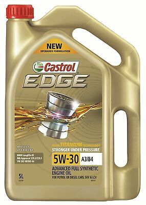 AU43.37 • Buy Castrol EDGE 5W-30 A3 B4 Engine Oil 5L 3421196