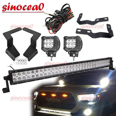 $139.99 • Buy Fit 05-15 TOYOTA Tacoma Bumper Light Bar & Hood Ditch LED Pods Mounting Wire Kit