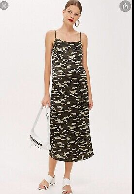 £12.50 • Buy ***topshop Camo Print Cami Slip Dress Nineties 90s- Size 6 New With Tags!!