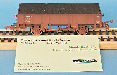 Dapol ES 22T Grampus Wagon With Coal Load Weathered Nº 985458 - LE Of 83 Boxed • 19.99£