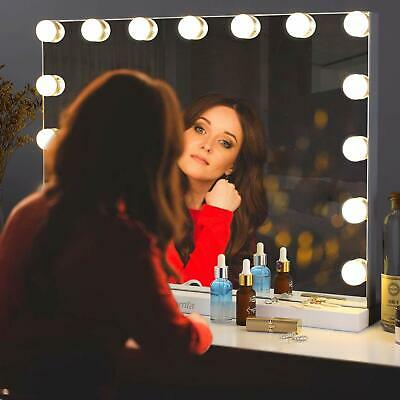 Hollywood Vanity Mirror Makeup Cosmetic Bathroom Mirror With LED Dimmable Lights • 69.99£