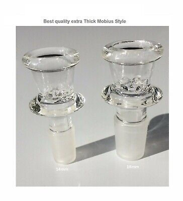 $12.85 • Buy 14mm 18mm  Glass Bowl  Thick Mobius Style Best Male Slide Screen Big Party Bowl