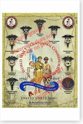 $17.99 • Buy US Army Medical Department AMEDD WWI Centennial Commemoration Poster
