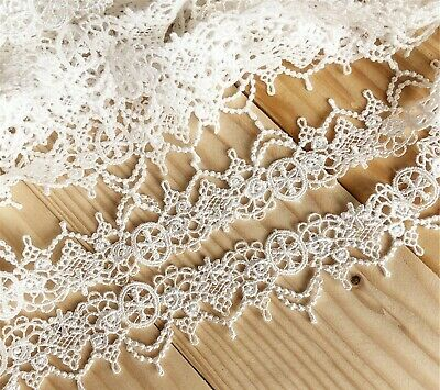 £2.99 • Buy Evening Bridal Dress Lace Trim Embroidered Tulle Ribbon Costume Craft DIY Edging