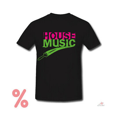 SALE Shirt House Music I Love Music Techno Electro Beats Party T-Shirt #R507 • 12.89£