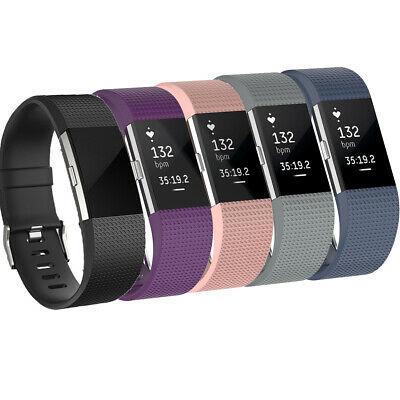 $ CDN4.95 • Buy For Fitbit Charge 2 Soft Silicone Watch Strap Wrist Band Large Small Replacement