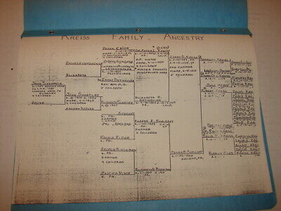 Genealogical Kreiss Family Ancestry 4 Pages In Folder • 7.15£