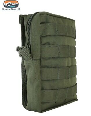 £11.95 • Buy Olive Green MOLLE Large Zipped Army Utility Webbing Pouch RAF Security Airsoft