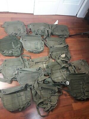 $99.99 • Buy Lot Of 15 US MILITARY VINTAGE VIETNAM ERA GAS MASK BAG M17A1 USED CANVAS